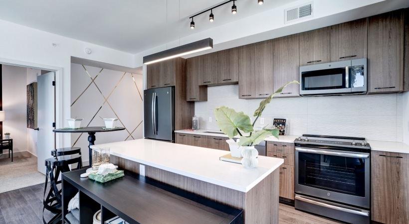 Dishwashers, slide-in electric ranges w/ overhead microwaves