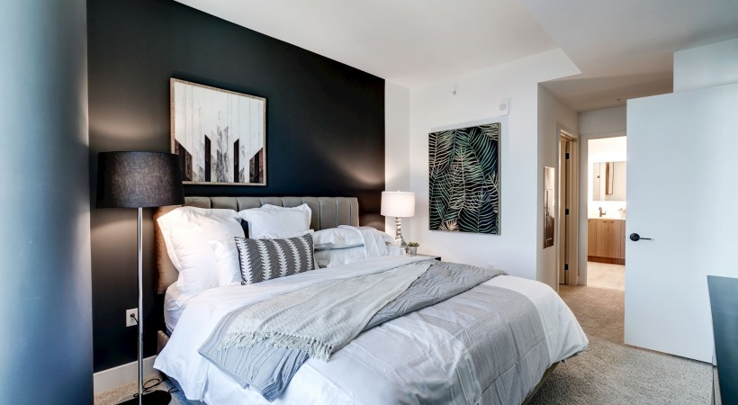 Spacious bedrooms with walk in closets